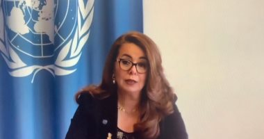 غادة والى تشارك فى مؤتمر افتراضى لدعم ضحايا الإرهاب