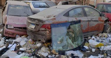شكوى من تواجد سيارات الخردة ومقلب للقمامة فى محلية 6 بمدينة العبور