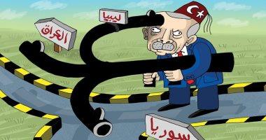 كاريكاتير صحيفة إماراتية ..أذرع أردوغان الأخطبوط تمتد لسوريا والعراق وليبيا