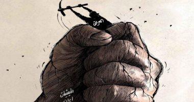 كاريكاتير صحيفة سعودية.. العراق يكافح للتخلص من ميليشيات إيران