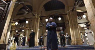 حى على الصلاة.. أول صلاة فى الجامع الأزهر بعد قرار الحكومة بفتح المساجد