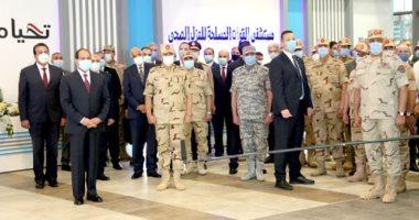 ننشر صور تفقد الرئيس السيسى تجهيزات القوات المسلحة للعزل الصحى
