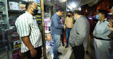 محافظ كفر الشيخ يتابع غلق المحال فى أول أيام إلغاء قرار حظر الحركة الجزئى