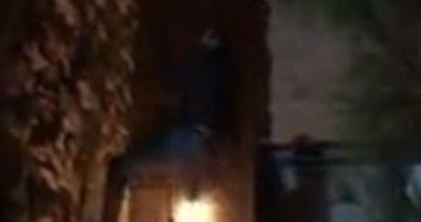"""أحمد العوضى يتسلق الجدران فى فيديو جديد من كواليس """"شديد الخطورة"""""""