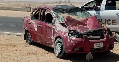 مصرع طفل وإصابة 5 أشخاص فى انقلاب سيارة على الصحراوى الشرقى بسوهاج