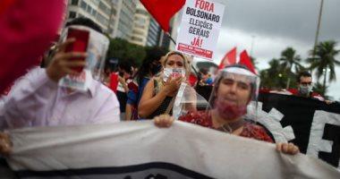 مظاهرات ضد الرئيس البرازيلى بسبب سوء إدارته لأزمة كورونا وعنصريته ضد السود