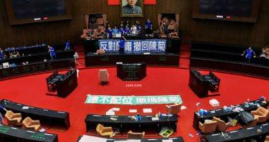المعارضة فى تايوان تحتل البرلمان مجددا بعد اشتباكات