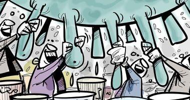 كاريكاتير صحيفة جزائرية.. أزمة كورونا تلقى بظلالها على الاقتصاد