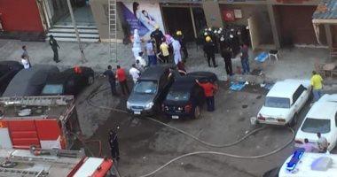 أول فيديو وصور لمصرع 7 مرضى بكورونا فى حريق مستشفى خاص بالإسكندرية