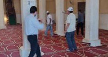 حملة شبابية لتعقيم وتطهير مساجد مدينة نخل بشمال سيناء