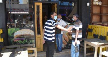 صور .. حملات موسعة على المقاهى لمتابعة الإجراءات الوقائية لمواجهة كورونا بمطروح
