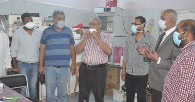 خروج وتعافى 112حالة مصابة بفيروس كورونا من مستشفى فرشوط المركزى