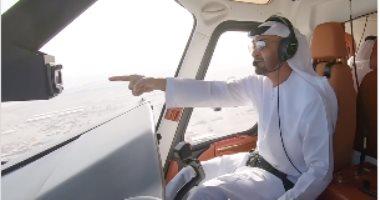 محمد بن زايد يقود طائرة فوق الأراضي الإماراتية.. فيديو وصور