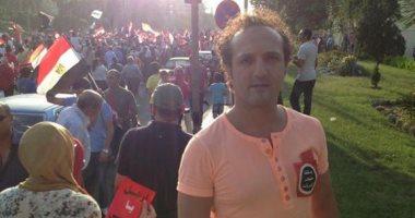 شريف مدكور يحتفل بذكرى ثورة 30 يونيو بصورة مسيرة تطالب برحيل مرسى