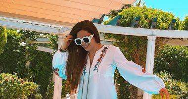 """""""يوم جديد وجميل"""".. نسرين طافش بجلسة تصوير جديدة خلال إجازتها الصيفية"""