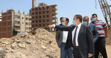 صور.. محافظ المنوفية يكلف برصف الطريق المؤدى لنفق المشاة بمدينة بركة السبع