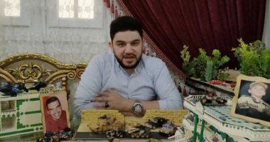 خالد صانع مجسم كمين البرث تخليدا للمنسى وزملائه: أقل هدية لروح الشهداء (فيديو)
