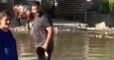 فيديو صادم لغارة تركية استهدفت مدنيين وأطفال فى كردستان العراق.. شاهد