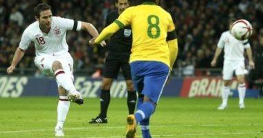 """جول مورنينج.. لامبارد يضع هدفًا """"بلياردو"""" لمنتخب إنجلترا في شباك البرازيل"""