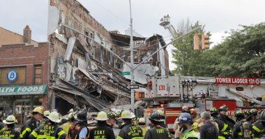 بعد 8 مرات غرامة وتحذير من المسئولين..انهيار مبنى مخالف فى نيويورك ..صور
