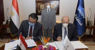الفريق أسامة ربيع يشهد توقيع عقد تنفيذ أعمال كهروميكانيكية لاستاد قناة السويس