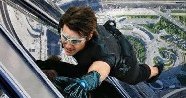 فيديو وصور.. كواليس تسلق توم كروز برج خليفة