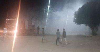 السيطرة على حريق محدود بنباتات الحلف فى ترعة أمام مستشفى القرنة المركزى
