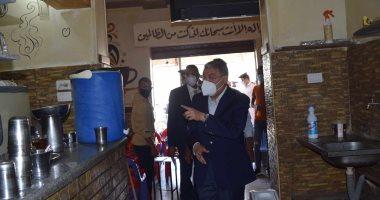 محافظ المنيا: غلق أحد المقاهى لعدم الالتزام بالإجراءات الوقائية