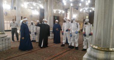 تعقيم مسجد الحسين - أرشيفية