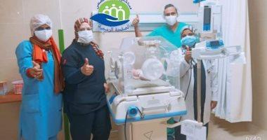 صور.. مستشفى إسنا للعزل الصحى تسجل حالة الولادة رقم 16 لمولودة أنثى