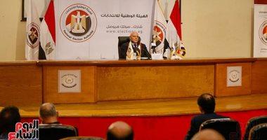 المستشار لاشين إبراهيم رئيس الوطنية للانتخابات-أرشيفية