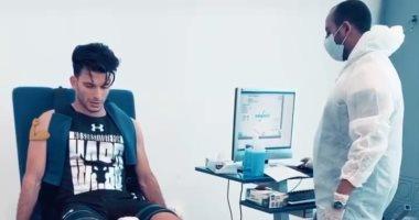 شاهد.. زيزو الزمالك يخضع لجلسة قياسات بدنية قبل العودة للتدريبات
