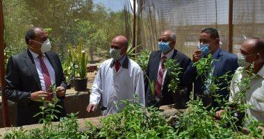 رئيس جامعة بني سويف يفتتح ثلاث وحدات انتاجية بكلية الزراعة.. صور