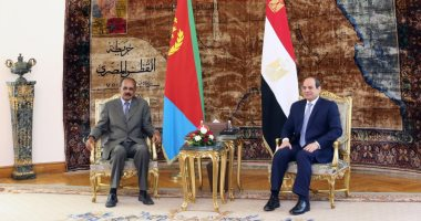 Al-Sisi and his Eritrean counterpart discuss the issues of the Horn of Africa, the security of the Red Sea and the issue of the Renaissance Dam ... The President confirms keenness to consolidate complementary work with Eritrea to establish peace and stability in the region .. Afwerki: keen to coordinate with Egypt