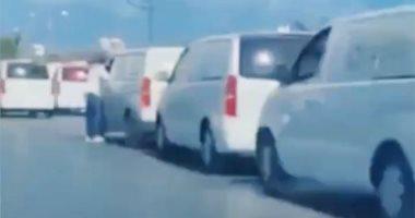 فيديو .. 40 سيارة إسعاف تحمل جثث مرتزقة أردوغان بعد قصف الوطية