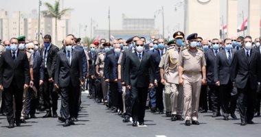 الرئيس السيسى وكبار رجال الدولة فى الجنازة العسكرية للفريق العصار اليوم