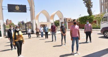 بروفة نهائية لإجراءات إستقبال ودخول الطلاب لجان الإمتحانات بجامعة أسيوط