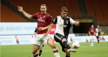 التعادل السلبي يحسم الشوط الأول من مباراة ميلان ضد يوفنتوس