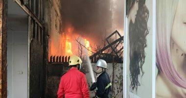 اندلاع حريق كبير فى العاصمة بغداد بمخزن للأصباغ والمواد الإنشانية.. فيديو