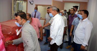 محافظ القليوبية يتفقد مستشفى كفر شكر ومحطة مياه المنشأة الكبرى.. صور