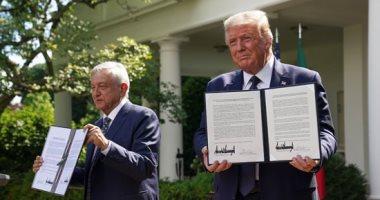 ترامب ونظيره المكسيكى يعلنان دخول اتفاقية التجارة حيز النفاذ