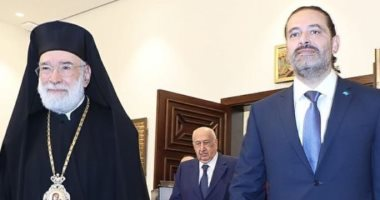 """سعد الحريري يزور المطران """"إلياس عودة"""" للعمل من أجل العاصمة بيروت.. صور"""