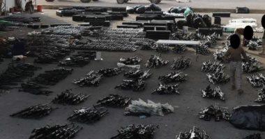 بومبيو ينشر صورة اعتراض القوات الأمريكية لشحنات سلاح إيرانية فى طريقها لليمن