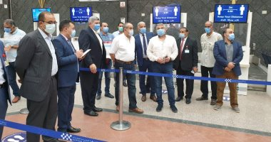 وزير الطيران المدنى يتفقد مطارى شرم الشيخ وطابا الدوليين.. صور