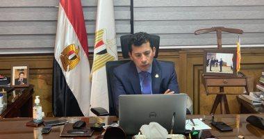 وزير الرياضة: الرئيس السيسى يهتم بالرياضة وخاصة الدراجات