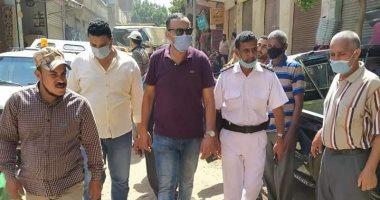 فض سوق مدينة منوف فى المنوفية منعا للتزاحم بسبب فيروس كورونا المستجد