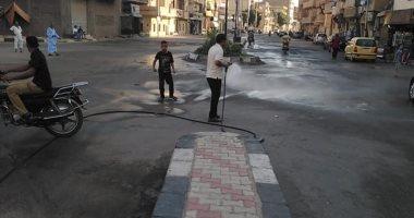 صور.. مدينة الأقصر تستكمل حملات النظافة بطريق الجولى فيل بالعوامية