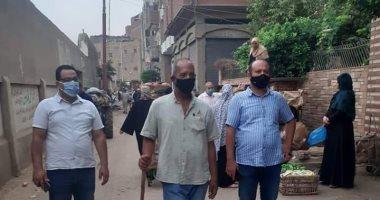 فض سوق قرية محمد محمود بمدينة تلا فى المنوفية منعا للتزاحم