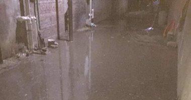 أهالى قرية بلكيم بالغربية يستغيثون من إنفجار ماسورة مياه وغرق الشوارع