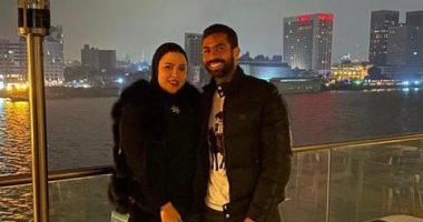 زوجة أحمد فتحى تنشر صورة مع الجوكر و تعلق أخر نزهة قبل كورونا